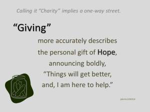 To call it charity 12 09 2014