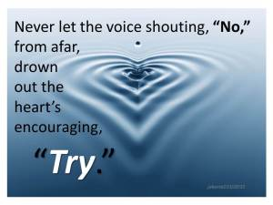 Never let the voice shouting no 03 10 2015