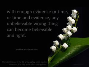 with enough evidence or time 05 05 2015