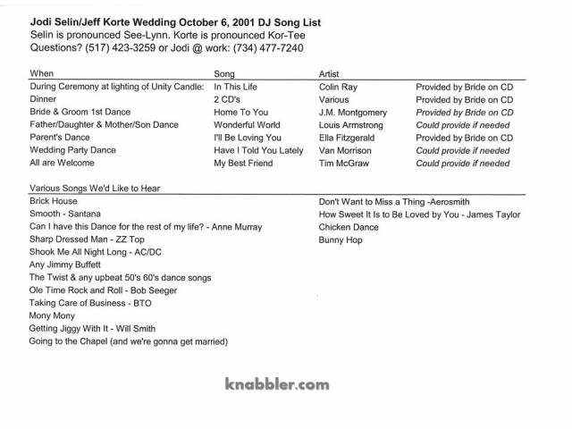 2016 06 21 weddingsonglist jakorte