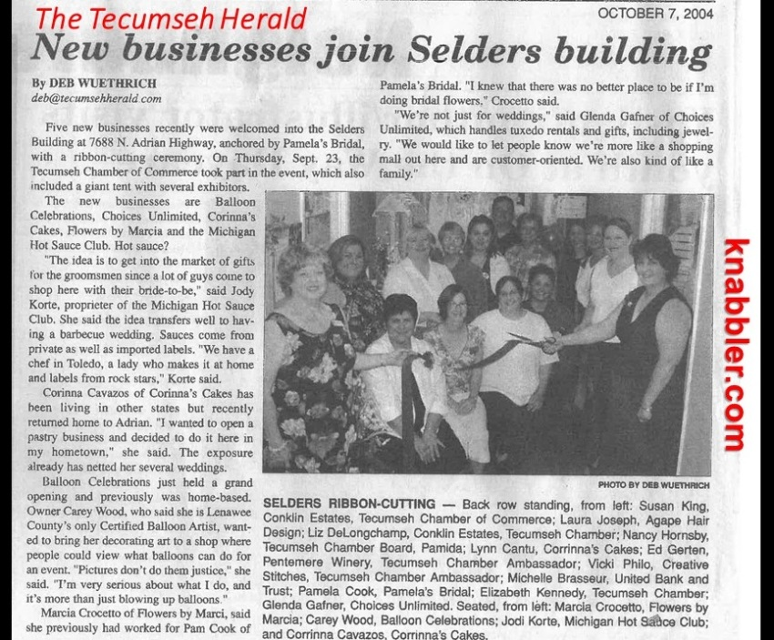 2017 10 30 The Tecumseh Herald Oct 2004 opening jakorte
