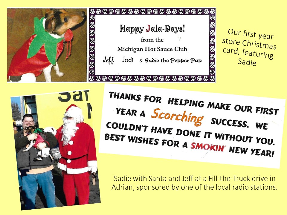 2017 12 19 MHSC first year store Christmas card and santa and Sadie bonus pix jakorte