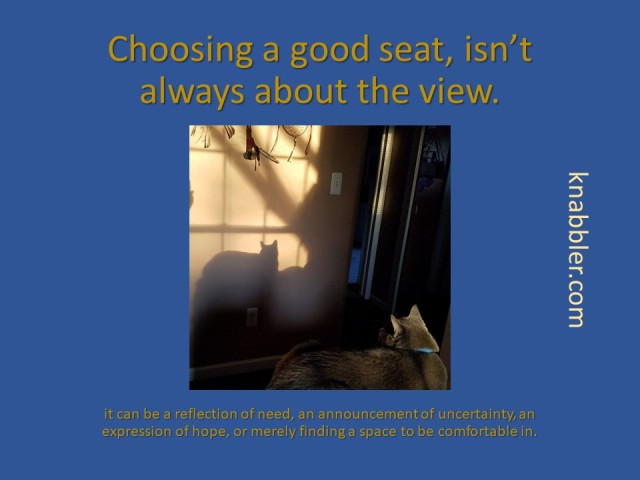 2018 04 03 Choosing a good seat jakorte