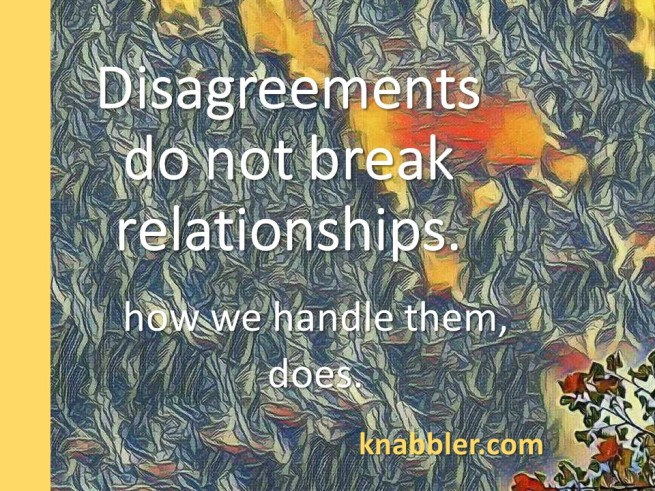 2018 05 15 Disagreements do not break relationships jakorte