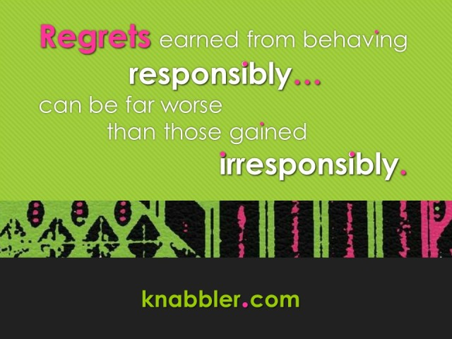 2018 06 19 RRegrets earned from behaving responsively jakorte