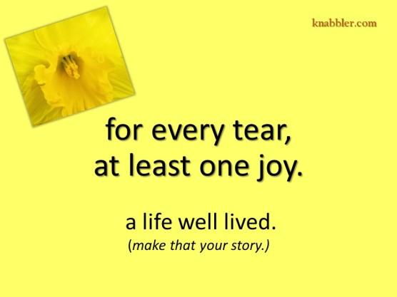2019 04 09 for every tear a joy jakorte
