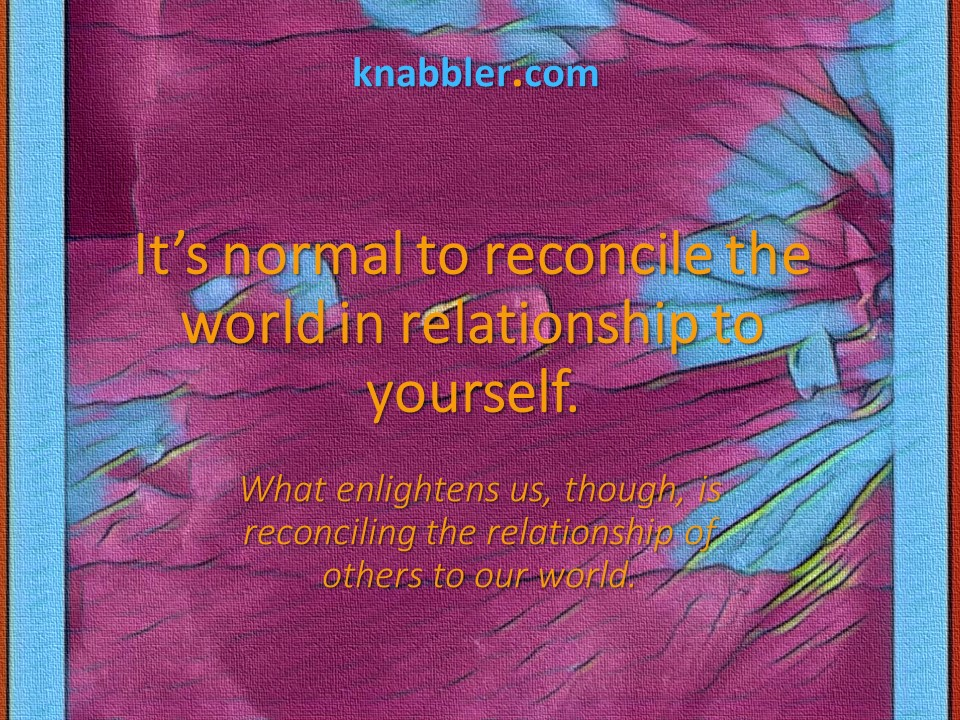 2019 06 18 Its normal to reconcile the world in relationship jakorte